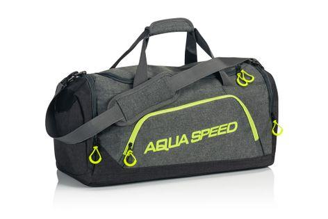 Torba sportowa AQUA-SPEED roz. L 55x26x30 cm Kolor - Akcesoria - Torba sportowa - 38 - szary / zielony