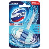 DOMESTOS 3w1 Ocean 40g - zawieszka kostka toaletowa w koszyczku