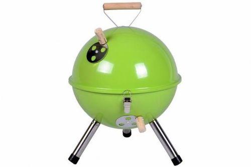 Grill ogrodowy węglowy okrągły, mini grill bbq kolor zielony na Arena.pl