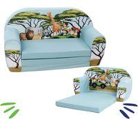 DELSIT rozkładana sofa kanapa z pianki dla dziecka SAFARI
