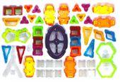 Klocki magnetyczne: 158 elementów: Budowle i pojazdy zdjęcie 3