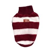 Elastyczny, mięciutki pulowerek w paski, czerwony L