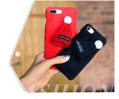 3D SOFT CASE ETUI CZAPKA PLUSZ IPHONE 7 8 CZARNY PREZENT GIFT zdjęcie 6