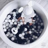 Jasno-szary suchy basen 40cm z piłeczkami GRAY+ 200 piłek do wyboru