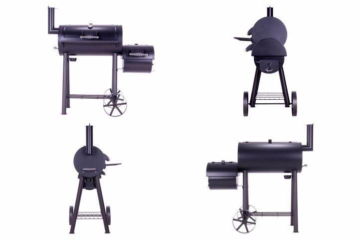 Grill z wędzarnią, grill ogrodowy XL, BBQ, rożen, wędzarnia zdjęcie 1