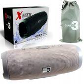 BEZPRZEWODOWY głośnik bluetooth CHARGE 3 RADIO mp3 SZARY