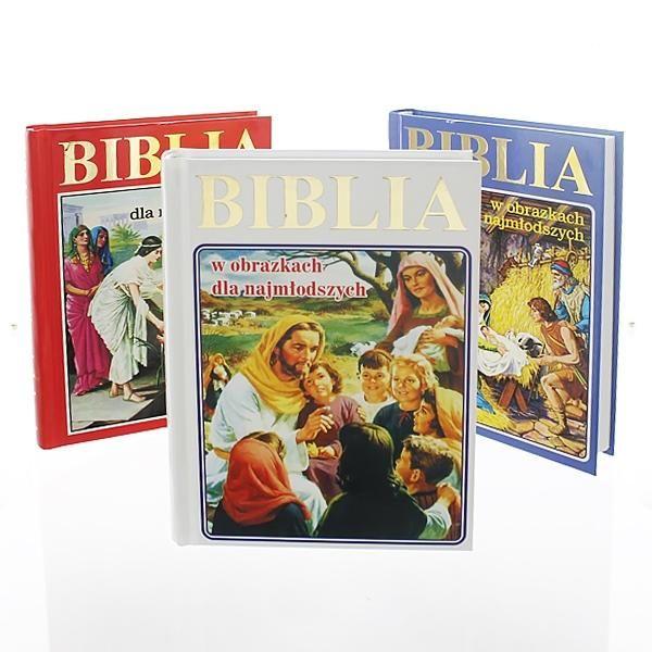 Biblia dla dzieci SZKATUŁKA prezent Chrzest GRAWER zdjęcie 3