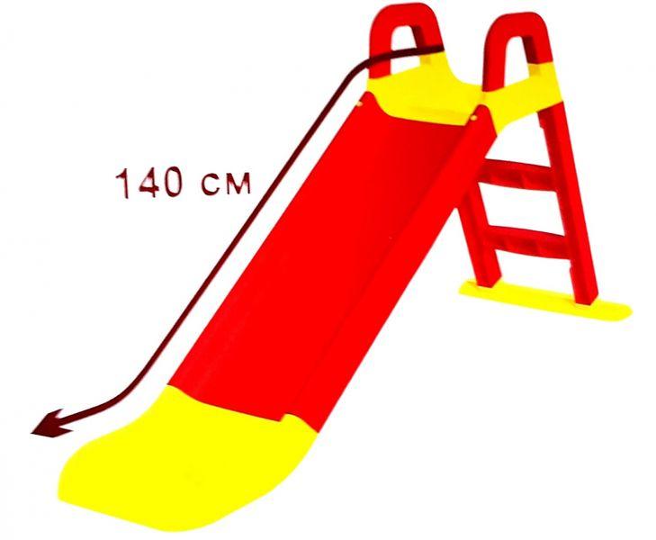 DUŻA Stabilna ZJEŻDŻALNIA dla Dzieci OGRODOWA 140 cm Różowa zdjęcie 2