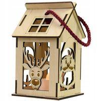 Lampion Adwentowy Boże Narodzenie Roraty Domek - Podświetlenie LED