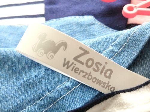 Wszywki nylonowe imienne metki imienniki naszywki na ubrania GuguBay na Arena.pl