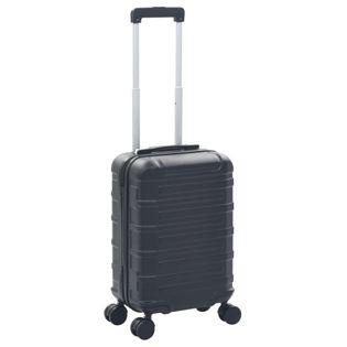 Twarda walizka czarna ABS VidaXL