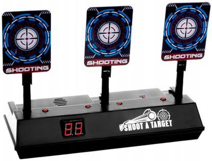 Tarcza Elektroniczna 3 Cele Strzelnica Wyświetlacz LCD Z134