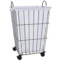 Kosz na pranie bieliznę odzież pojemnik na kółkach