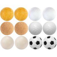 Zestaw piłeczek do piłkarzyków różne rodzaje 12 szt. 35 mm M09546