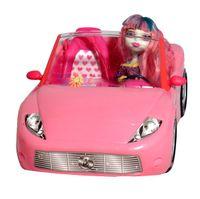 DUŻY KABRIOLET RÓŻOWY Auto Dla Lalek Barbie Dromader