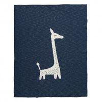 Fresk tkany kocyk z bawełny organicznej 80 x 100 cm żyrafa