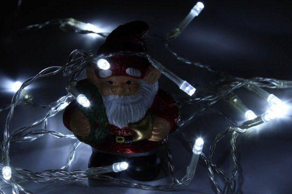 Lampki świąteczne 30 LED na baterie 3m zimny biały Joylight zdjęcie 8