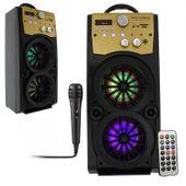 Głośnik Miniwieża Boombox 60W LED Bluetooth + Mikrofon RX-S50 G208Z zdjęcie 12