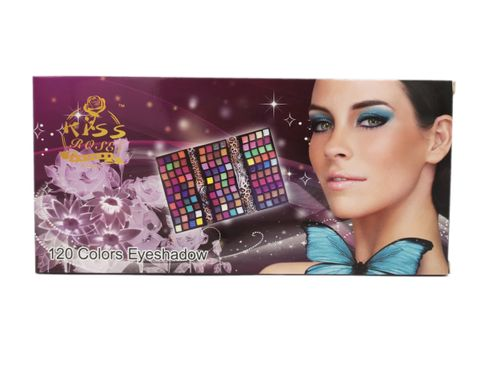 Paleta cieni do makijażu powiek oczu KISS ROSE, 120 barw na Arena.pl