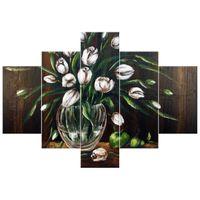 OBRAZ MALOWANY ZE ZDJECIA  Tulipany 100x70