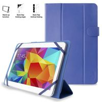 PURO Universal Booklet Easy - Etui tablet 10.1'' w/Folding back + stand up + Magnetic Closure (granatowy)