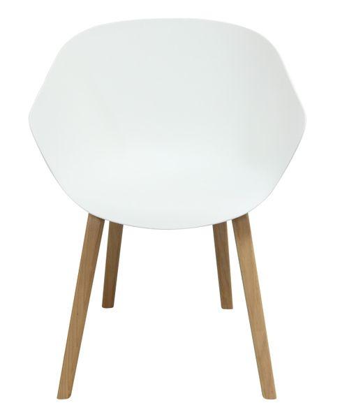 MODESTO fotel ANGEL biały - polipropylen, podstawa bukowa zdjęcie 2