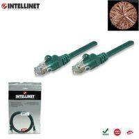 Patch Cord 100% miedź Intellinet Cat.6 UTP, 10m, zielony ICOC U6-6U-100-GREEN