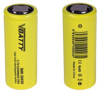 2x Akumulator ogniwo bateria IMR 26650 3.7 v 4200 mAh 50A CE