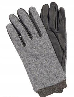 Oodji rękawiczki z łączonych materiałów r. M