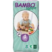 Eko pieluszki BAMBO NATURE 4 MAXI 7-18kg 60szt