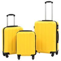 Zestaw twardych walizek 3 szt. żółte ABS VidaXL