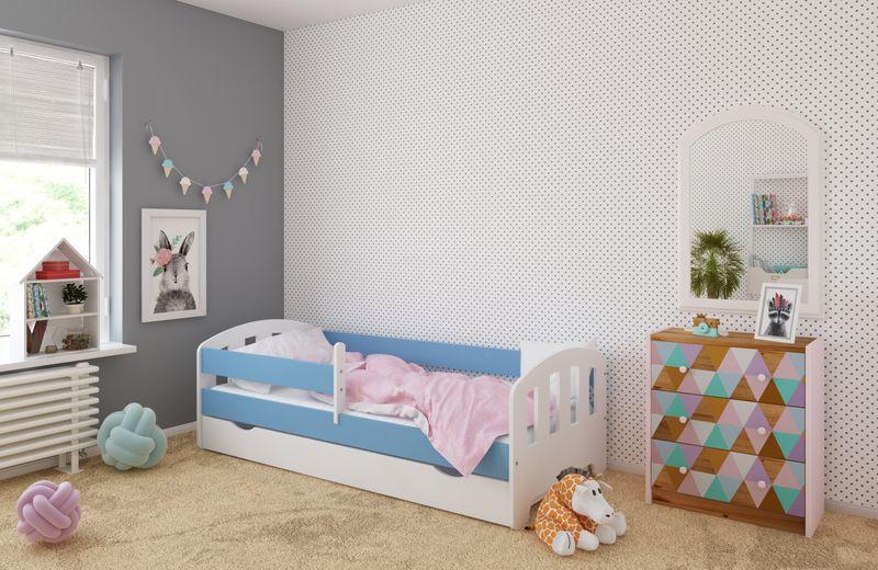 Łóżko FIFI 140x80 + szuflada + barierka zabezpieczająca + MATERAC zdjęcie 7