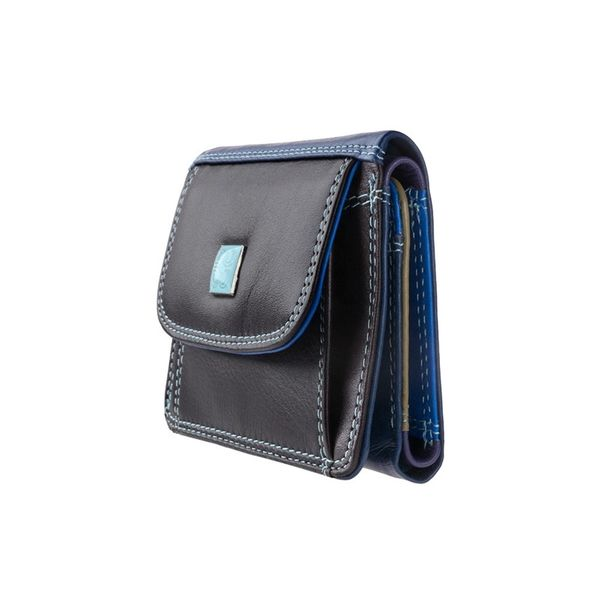 1d862e7e51145 Bardzo mały skórzany portfel damski DuDu®, 534-1167 czarno-granatowy  zdjęcie 2