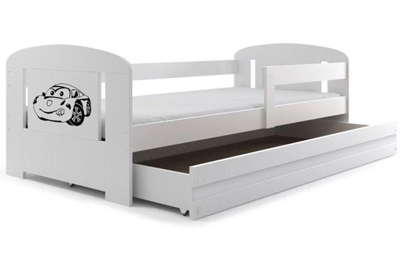 Łóżko pojedyncze FILIP 160x80 dla dzieci + SZUFLADA + BARIERKA zdjęcie 1