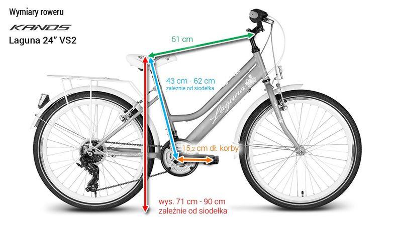 Rower 24 KANDS LAGUNA VS-2 stożek biało-fioletowy zdjęcie 10