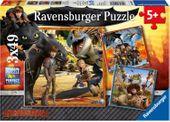 Ravensburger - Jak Wytresować Smoka Puzzle 3x49 elementów 092581