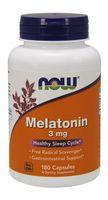 NOW FOODS Melatonin Melatonina 3mg 180wege kap