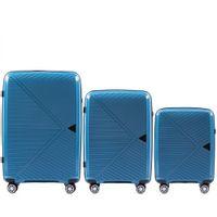 Zestaw 3 walizek KEMER WINGS PP06 Błękitne