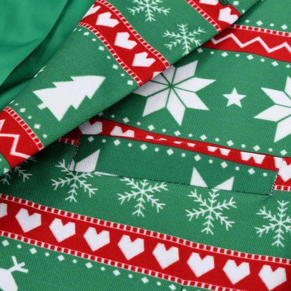 725826a7e319c Świąteczny garnitur męski z krawatem, 2-częściowy, 52, zielony zdjęcie 4