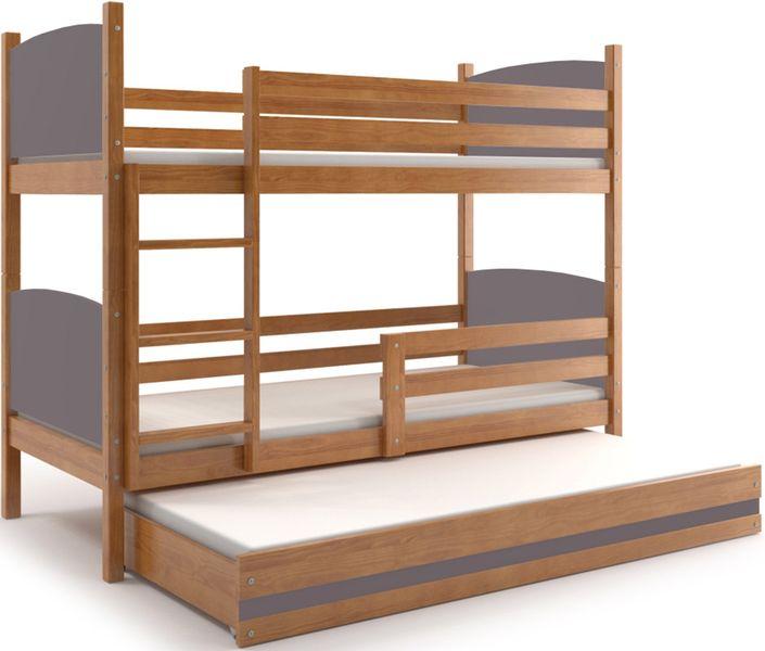 łóżko Piętrowe 3 Osobowe Tami 200x90 3 Osobowe Dla Dzieci Meble