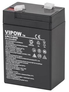 Akumulator żelowy Vipow (6 V, 4.5 Ah, HQ)