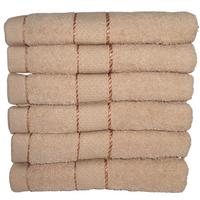Komplet ręczników kąpielowych 50x100 cm 6szt. (wzór: gładki; kolor: ecru)