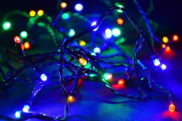 Lampki ogrodowe 100 LED, kolorowe zdjęcie 2