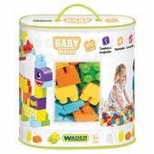 Baby blocks torba 100szt klocki dla maluszka wader