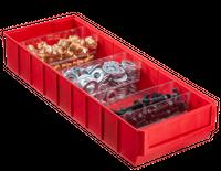 Pojemnik magazynowy czerwony- 500x185x81 mm