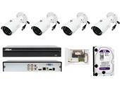 Zestaw monitoringu parkingu z 4 kamerami w jakości FULL HD