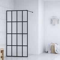 Ścianka prysznicowa, szkło hartowane, 90 x 195 cm