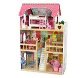 Drewniany domek dla lalek REZYDENCJA MALINOWA + 2 lalki ECOTOYS