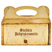 pudełko ciasto SŁODKIE PODZIĘKOWANIE vintage retro zdjęcie 2