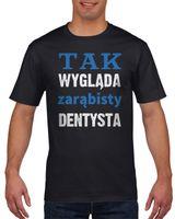 Koszulka męska Dla dentysty S Czarny